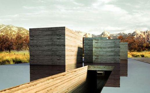 rammed earth modern building